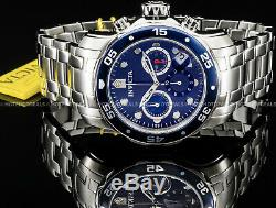 Invicta 48mm Pro Diver Scuba Chronograph Blue Dial Stainless Steel 200MT Watch