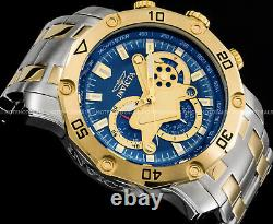 Invicta Pro Diver Scuba 3.0 Chronograph Blue Dial 2-Tone Gold Plated Tachy Watch