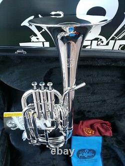 John Packer 272 Silver Alto Horn- Professional (Bell made in one piece)