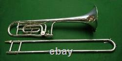 King 3B Concert Trombone with F Attachment Silver Plate Near Perfect Condition