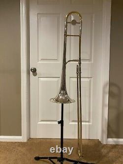 King 3B silversonic trombone H. N. White