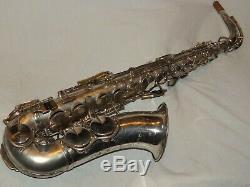 King Zephyr Alto Saxophone #173XXX, 1937, Original Silver, Recent Pads Complete