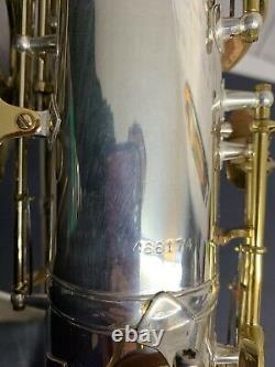 King Zephyr Tenor Saxophone Silver Plated Overhauled #466174