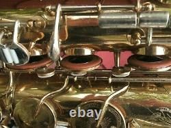 King super 20 tenor sax brass bell silver neck made in Cleveland Oh