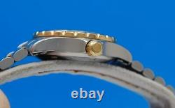 Ladies Tag Heuer 2000 2-tone 18K Gold plate & SS Professional watch Gold Dial