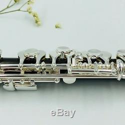 MeeLe Grenadilla Wood Body&Head Piccolo C Key Piccolo Silver Plated Keys
