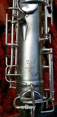 Mint Condition 1945 Conn 10m Silver Plate