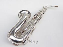 Mint Selmer SBA alto saxophone. 1953. Original silver. Superb