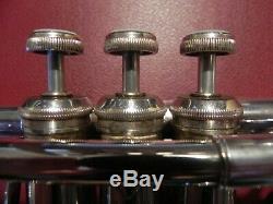 Near Perfect Bach Stradivarius 304 Eb (E flat) Professional Trumpet Silver Plate