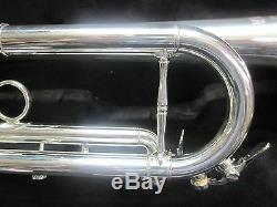 New CarolBrass CTR-5000L-YSS-S Bb Trumpet, Silver, Best Import Model
