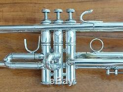 Nice Playing 1983 Silver Plated Bach Stradivarius 37 Professional Trumpet w Case
