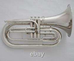 Prof. JYBT-E170 Bb Silver Nickel Marching Baritone 10.04'' Horn LuxaryCase