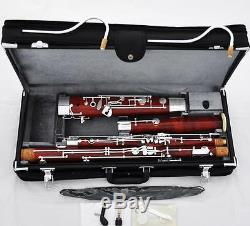 Prof Maple Wooden Bassoon Silver Plated Keys New Case