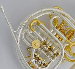 Professional 103 Double French Horn Silver Gold F/Bb Detached Bell WithCase