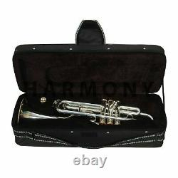 Professional Bb Trumpet Silver & Brass Brand New Edition with Case & Mouthpiece