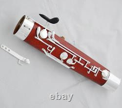 Professional Maple Wooden Body Bassoon Silver Plating Keys 2 Bocals Leather Case