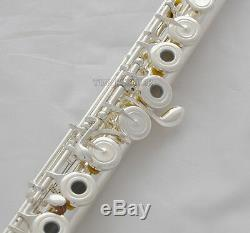 Professional New Silver 17 Open hole Flute Offset G Key B foot Split E With Case
