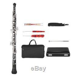 Professional Oboe Semi-automatic Style C Key Silver Plated Keys Woodwind J3O7