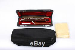 Professional Piccolo Rosewood Body Head Silver Plated Keys Free Leather Case