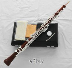 Professional Rose wooden Material Oboe Silver Plated C key Brand new Wood Case