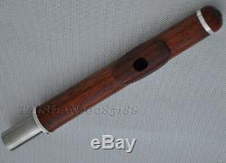 Professional Rose wooden Silver C# Trill Flute B Foot Split E Offset wood csae