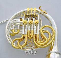 Professional Silver Gold Plated Double French Horn F/Bb Detached Bell New