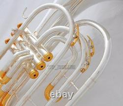 Professional Silver Gold Plated Marching French horn Bb Monel Valves With Case