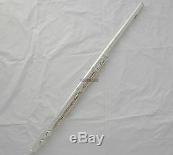 Professional Silver Plated Alto Flute G Key Straight Curved Headjoin Italian pad