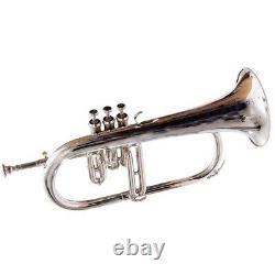 Professional Silver Plated Flugelhorn Horn Valves New Case SCX101