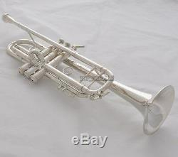 Professional Silver Plated Trumpet TaiShan Brand horn Monel Valves With Case