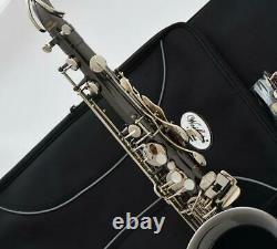Professional WEIBSTER new Bb Tenor Saxophone Black Nickel Silver Engraving Sax