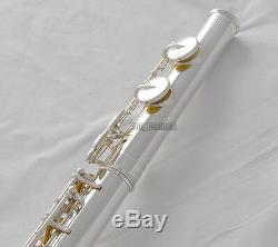 Professsional Silver Alto Flute G key With Straight curved headjoin Italian pad