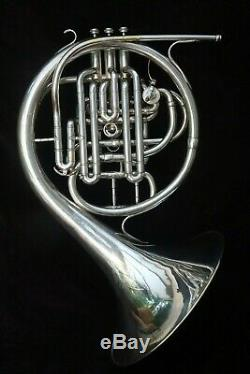RARE EXCEPTIONAL COUESNON MONOPOLE CONSERVATOIRE FULL DOUBLE FRENCH HORN 1950's