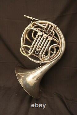 Rare 1934 King H. N White French Horn Schmidt Pelletier Model Piston Thumb
