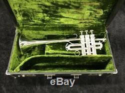Restored Couesnon Monopole Star Piccolo Trumpet in Silver Plate Serial # 73410