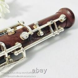 Rosewood body oboe concert semiautomatic C key Silver plated keys rose wooden
