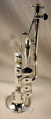 SCHILKE P5-4 PROFESSIONAL 4 VALVE Bb/A SILVER PICCOLO TRUMPET AMAZING