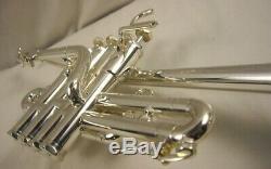 SCHILKE P5-4BG PROFESSIONAL 4 VALVE Bb/A SILVER PICCOLO TRUMPET AMAZING