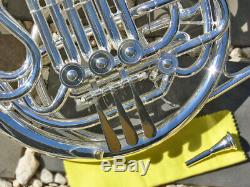 SILVER Bb/F Double FRENCH HORN Sterling Pro Quality Brand New With Case