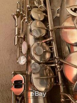 Saxophone alto rampone & cazzani R1jazz silver plated