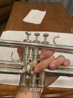 Schilke B5 Bb Trumpet ML Bore 2014 Silver Plated