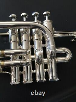 Schilke P5-4 Bb/A Piccolo Trumpet in Silver Plate slightly used excellent cond