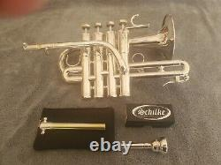 Schilke P7-4 A/Bb Piccolo Trumpet, Mouthpiece and Gig Bag in Excellent Condition