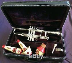 Selmer Paris Balanced Action Trumpet 1951 Wonderful Condition, Case, Mutes, MP