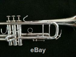 Silver Plated Kanstul 1537 Professional Trumpet with Padded Gig Bag