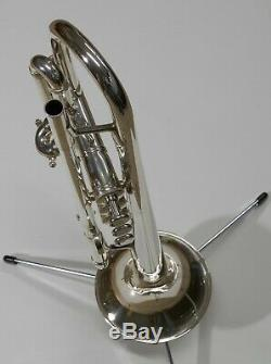 Silver plated Kanstul model 1000 Bb Chicago Trumpet near factory condition
