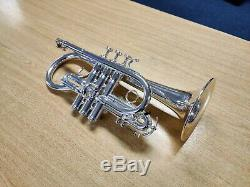 Smith-Watkins Soloist Eb Soprano Cornet Silver (used instrument)