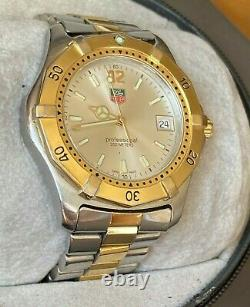 TAG Heuer Professional 200m Silver Dial & Gold Plated Watch Box & Papers WK1120