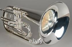 TEMPEST AGILITY WINDS Bb MARCHING EUPHONIUM SILVER PLATED HUGE SOUND BIG BRACES