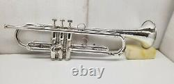 VINTAGE MADE IN ELKHART Bb TRUMPET SILVER PLATED FINISH